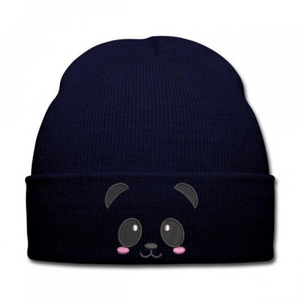 Beautıful Panda Embroidered Knit Cap Designed By Madhatter