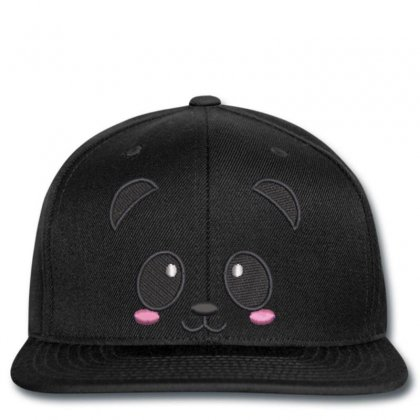 Beautıful Panda Embroidered Snapback Designed By Madhatter