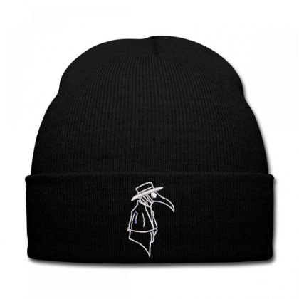 Detective Crow Embroidered Knit Cap Designed By Madhatter