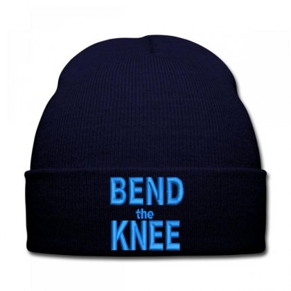 Bend The Knee Embroidered Knit Cap Designed By Madhatter