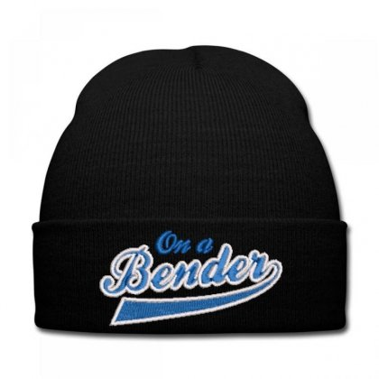 Blender Embroidered Knit Cap Designed By Madhatter