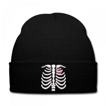 Skeleton Embroidered Knit Cap Designed By Madhatter