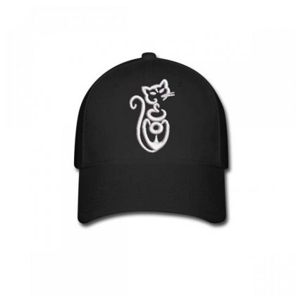 Cat Embroidered Baseball Cap Designed By Madhatter