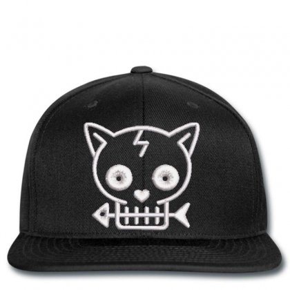 Cat  Fısh Embroidered Snapback Designed By Madhatter