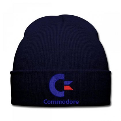 Commodore Embroidered Knit Cap Designed By Madhatter