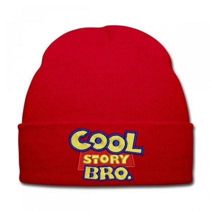 Cool  Story Embroidered Knit Cap Designed By Madhatter