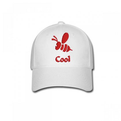 Cool Bee Embroidered Baseball Cap Designed By Madhatter