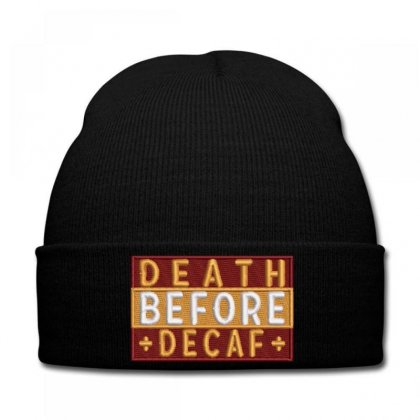 Death Embroidered Knit Cap Designed By Madhatter