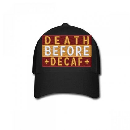 Death Embroidered Baseball Cap Designed By Madhatter