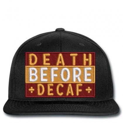 Death Embroidered Snapback Designed By Madhatter