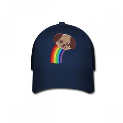 Raınbow  Dog Embroidered Baseball Cap Designed By Madhatter