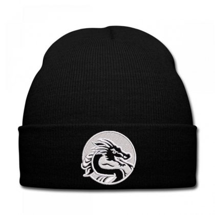 Dragon Embroidered Knit Cap Designed By Madhatter
