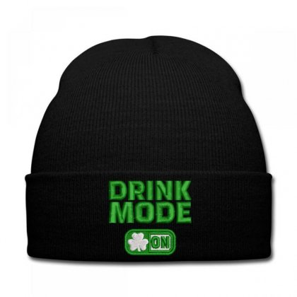 Drınk  Mode  On Embroidered Knit Cap Designed By Madhatter