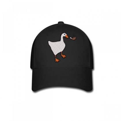 Smokıng  Duck Embroidered Baseball Cap Designed By Madhatter