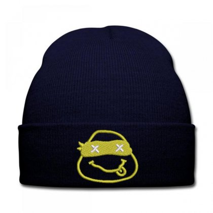 Nınja  Turtle Embroidered Knit Cap Designed By Madhatter
