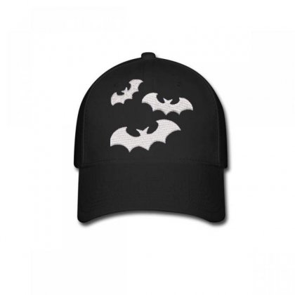 Bats Embroidered Baseball Cap Designed By Madhatter