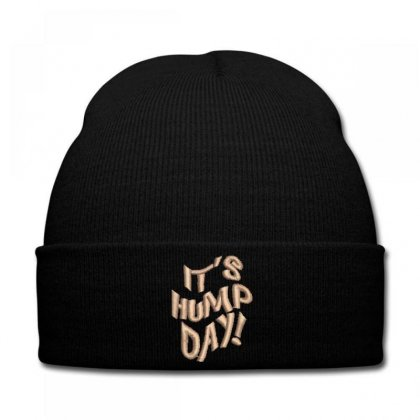 It's Hump Day Embroidered Knit Cap Designed By Madhatter