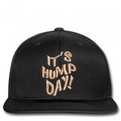 It's Hump Day Embroidered Snapback Designed By Madhatter