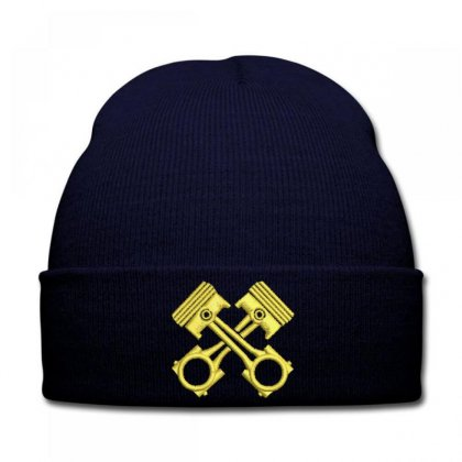Golden Embroidered Knit Cap Designed By Madhatter