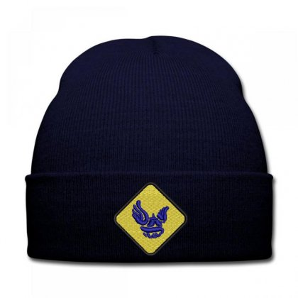 Trı  Icon Embroidered Knit Cap Designed By Madhatter