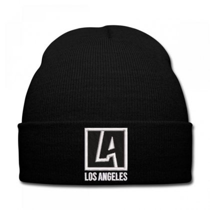 Los Angeles Embroidered Knit Cap Designed By Madhatter