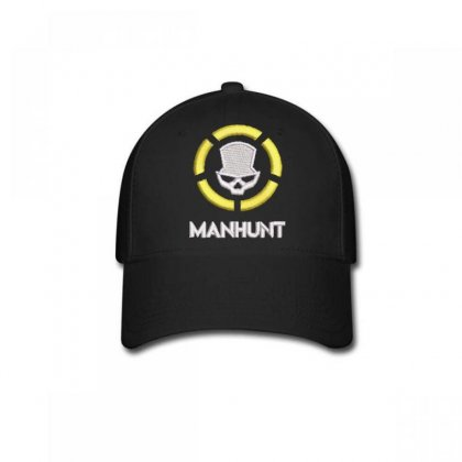 Manhunt Embroidered Baseball Cap Designed By Madhatter