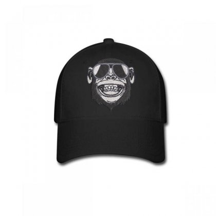 Crazy  Monkey Embroidered Baseball Cap Designed By Madhatter