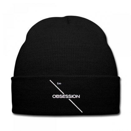 Obsessıon Embroidered Knit Cap Designed By Madhatter
