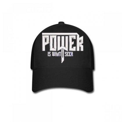 Power Embroidered Baseball Cap Designed By Madhatter