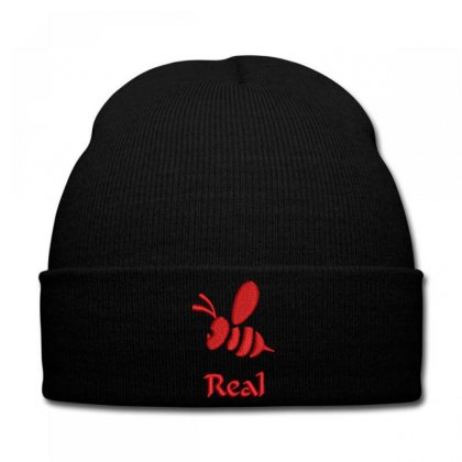 Real  Bee Embroidered Knit Cap Designed By Madhatter