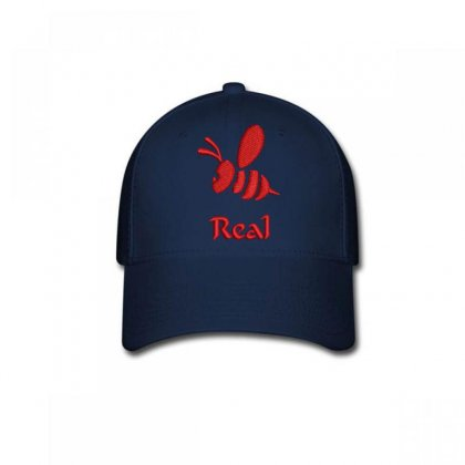 Real  Bee Embroidered Baseball Cap Designed By Madhatter