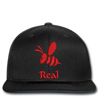 Real  Bee Embroidered Snapback Designed By Madhatter