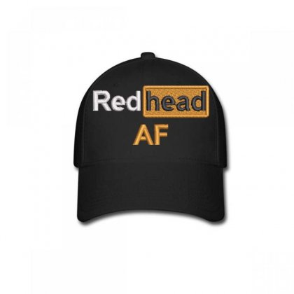 Red Head Af Embroidered Baseball Cap Designed By Madhatter