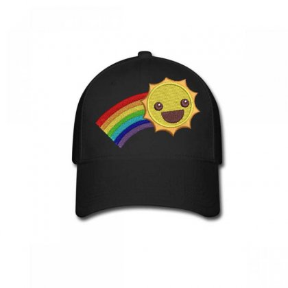 Hapyy Sun Embroidered Baseball Cap Designed By Madhatter