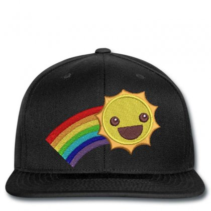 Hapyy Sun Embroidered Snapback Designed By Madhatter