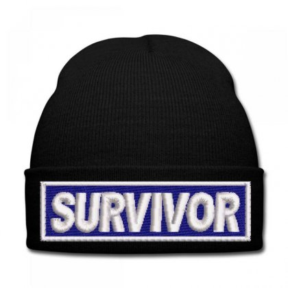 Survıvor Embroidered Knit Cap Designed By Madhatter