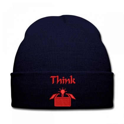 Thınk  Brıght Embroidered Knit Cap Designed By Madhatter