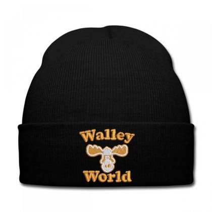 Walley  World Embroidered Knit Cap Designed By Madhatter
