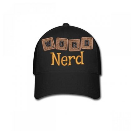 Word  Nerd  Embroidered Baseball Cap Designed By Madhatter