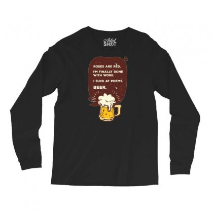 Beer Poem Long Sleeve Shirts Designed By Daraart