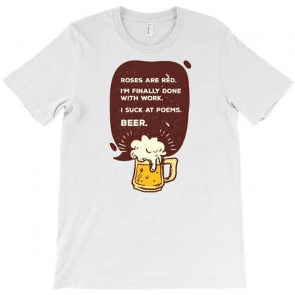 Beer Poem T-shirt Designed By Daraart