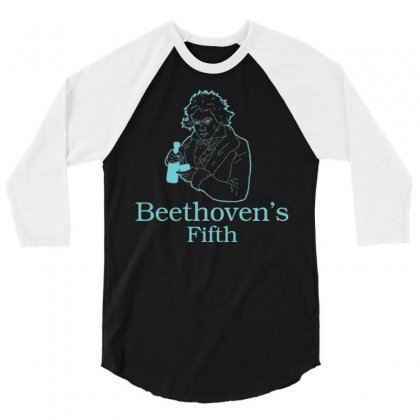 Beethoven's Fifth 3/4 Sleeve Shirt Designed By Daraart