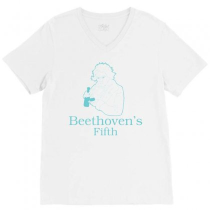 Beethoven's Fifth V-neck Tee Designed By Daraart
