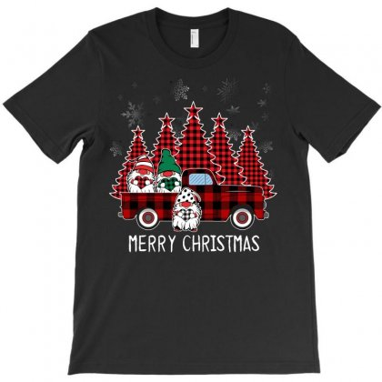 Merry Christmas Gnome T-shirt Designed By Omer Acar