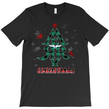 Merry Christmas Tree T-shirt Designed By Omer Acar