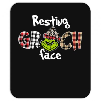 Resting Grinch Face For Dark Mousepad Designed By Sengul