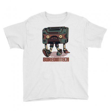 Bored Tech Youth Tee Designed By Daraart
