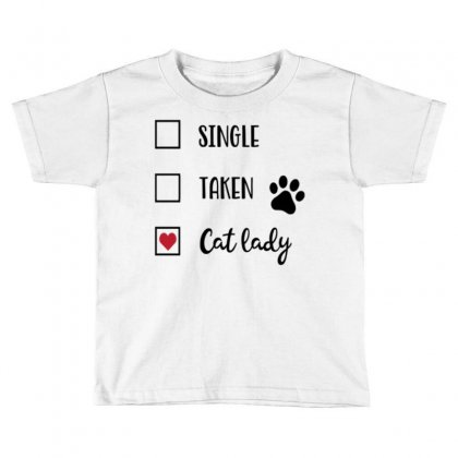Cat Lady Toddler T-shirt Designed By Daraart