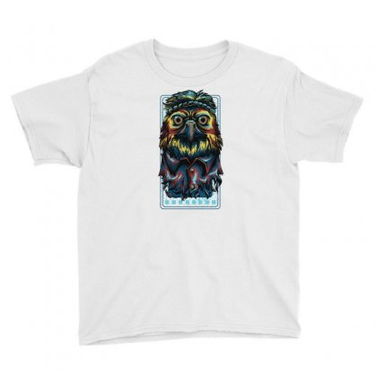 Colorful Eagle Youth Tee Designed By Daraart