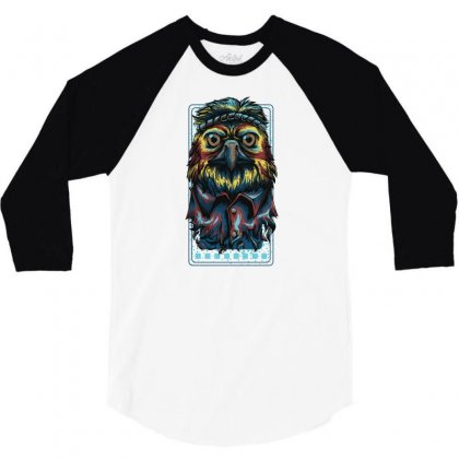 Colorful Eagle 3/4 Sleeve Shirt Designed By Daraart